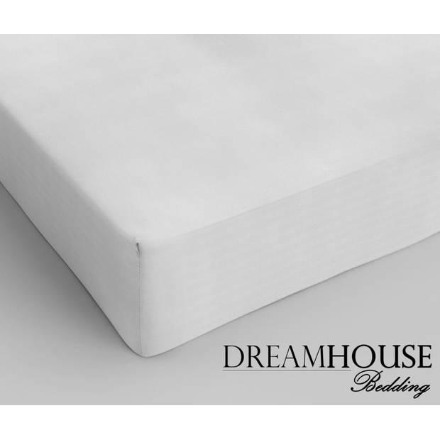 Dreamhouse Hoeslaken Katoen Wit-120 x 200 cm