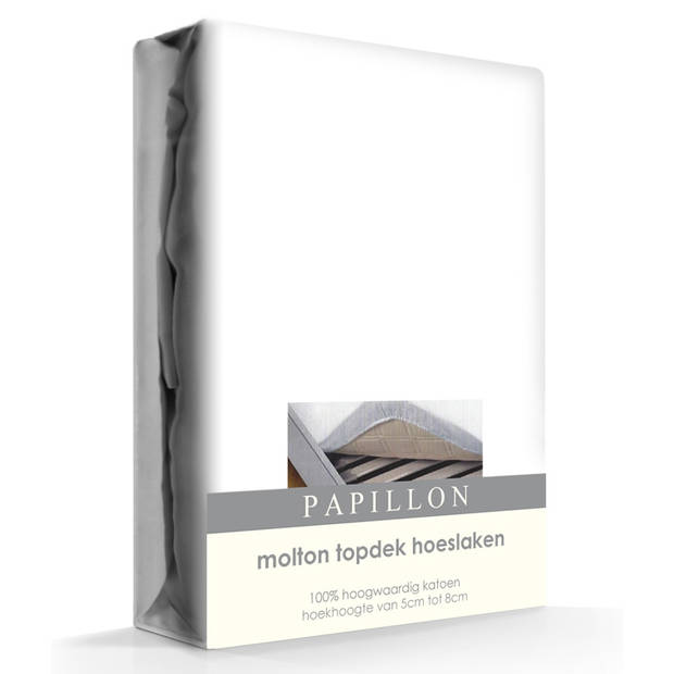 Topper Molton Hoeslaken Katoen Papillon-160 x 200 cm