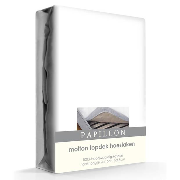 Topper Molton Hoeslaken Katoen Papillon-180 x 200 cm