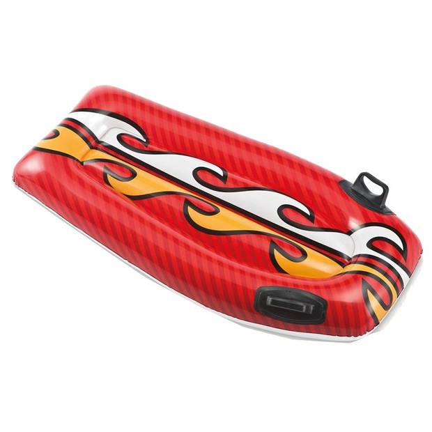 Intex opblaasbare bodyboard rood 112 x 62 cm