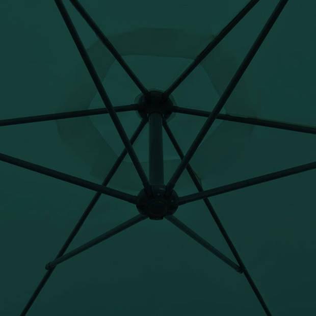 vidaXL Zweefparasol 3 m groen