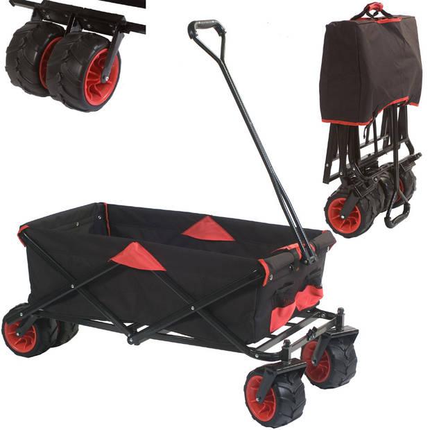 Bolderwagen opvouwbaar - zwart