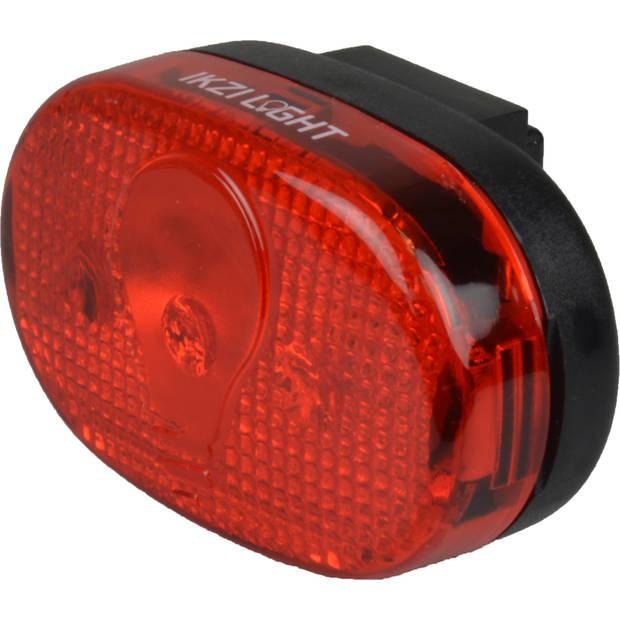 Ikzi Light Batterij achterlicht LED rood