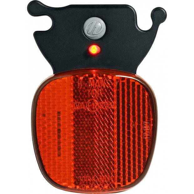 Herrmans achterlicht led H-Rail batterijen zwart/rood