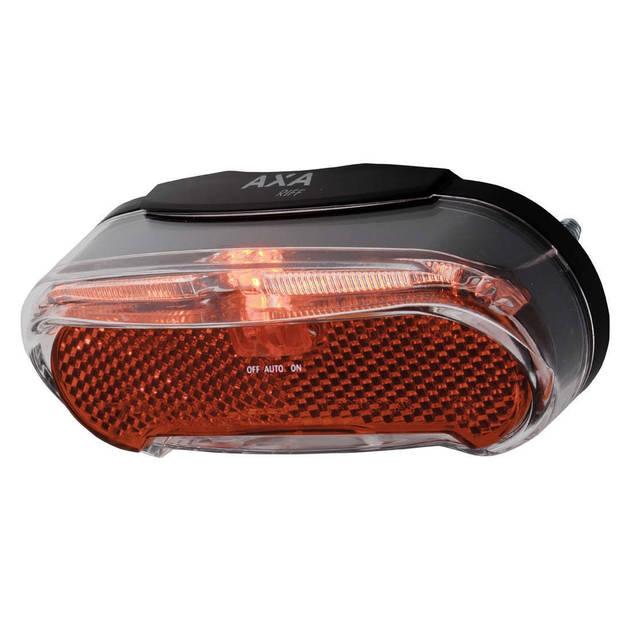 AXA Achterlicht Riff Batlow LED batterij aan/auto/uit zwart