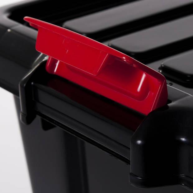 Iris Power opbergbox - 50 l - zwart/rood