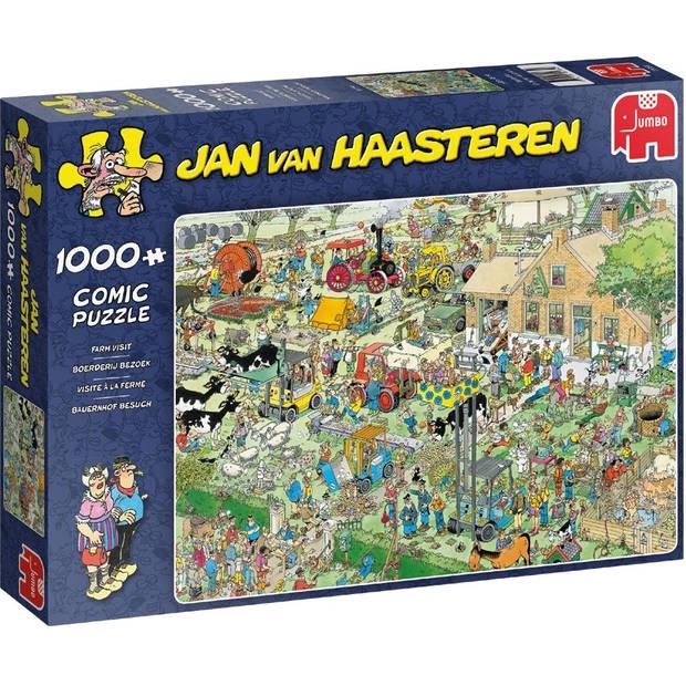 Jan van Haasteren puzzel boerderij bezoek - 1000 stukjes