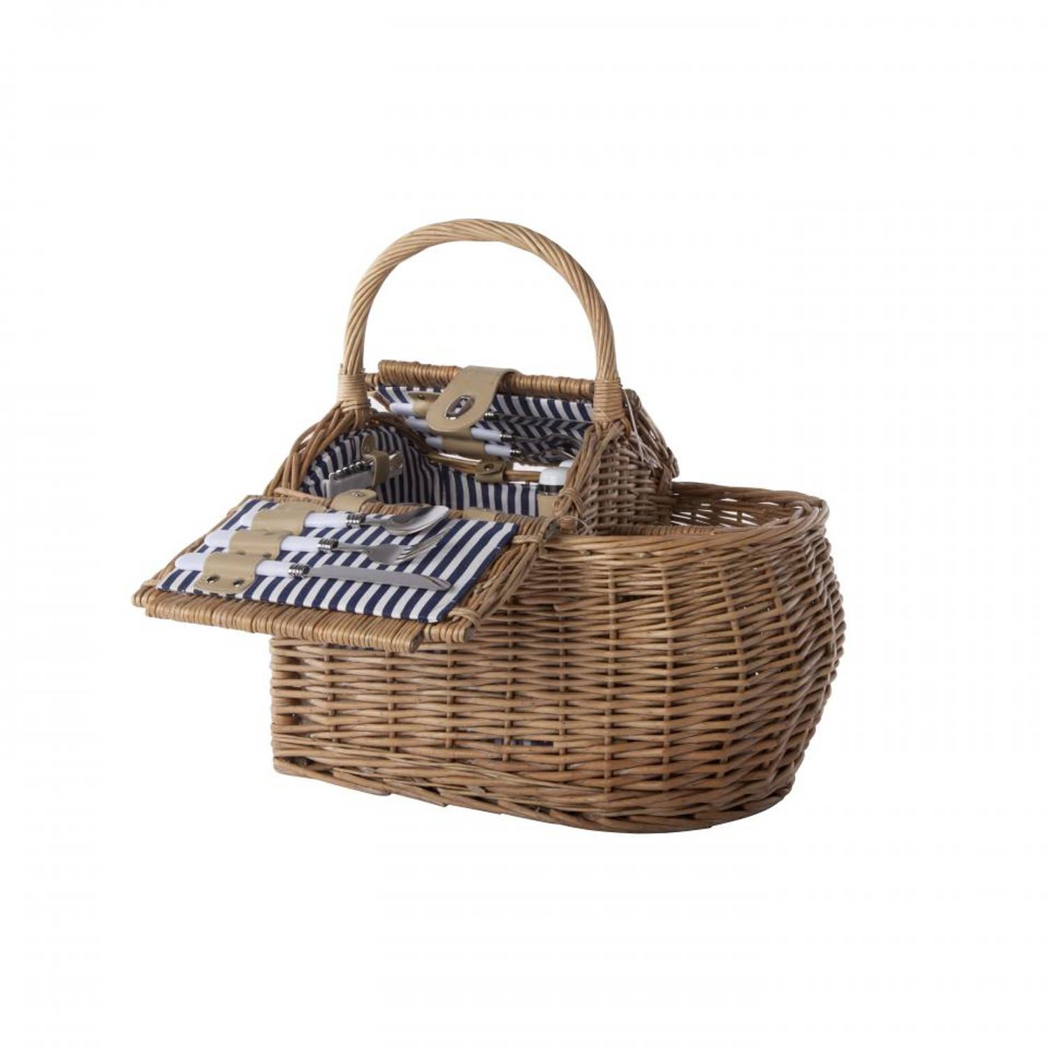 Cosy&Trendy picknickmand - 2-persoons - blauw