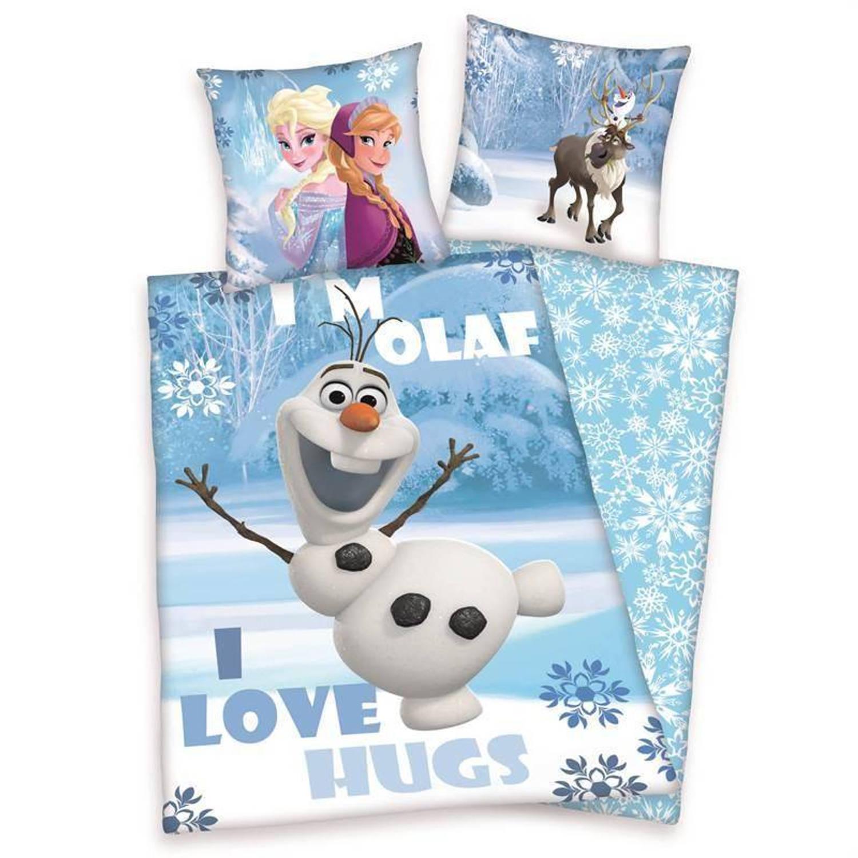 Disney Frozen dekbedovertrek - 100% katoen - 1-persoons (140x200 cm + 1 sloop) - 1 stuk (60x70 cm) - Multi
