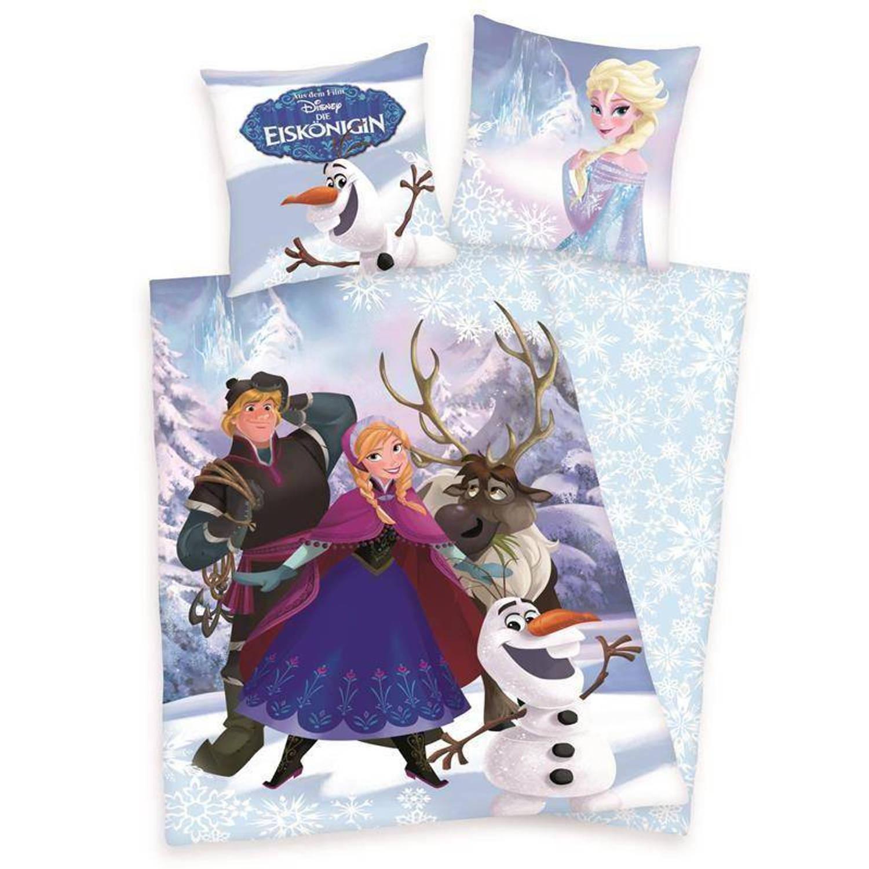 Disney Frozen dekbedovertrek - 100% katoen - 1-persoons (140x200 cm + 1 sloop) - 1 stuk (60x70 cm) -