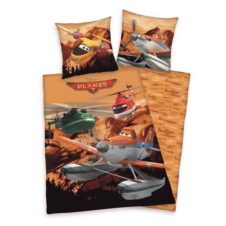 Disney Planes dekbedovertrek - 100% katoen - 1-persoons (140x200 cm + 1 sloop) - 1 stuk (60x70 cm) -