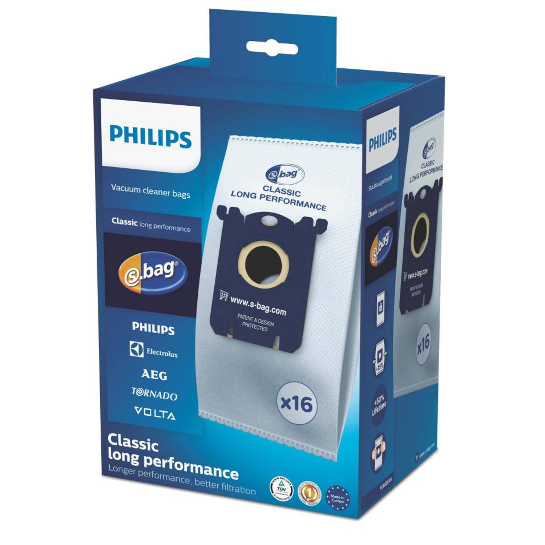 Philips s-bag stofzuigerzakken - FC8021/05 - 16 stuks
