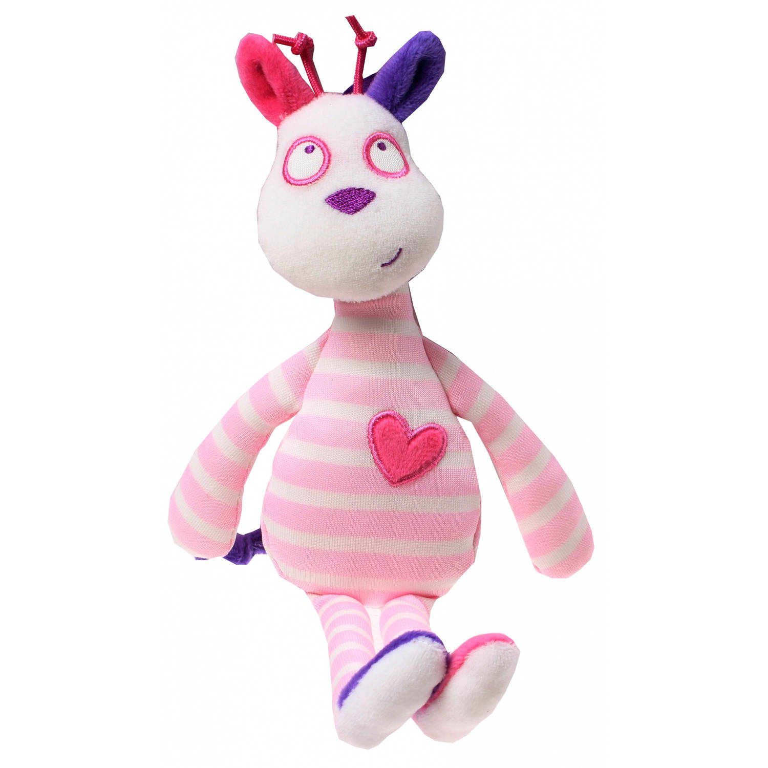 Luminou Glow In The Dark knuffel giraffe roze 28 cm