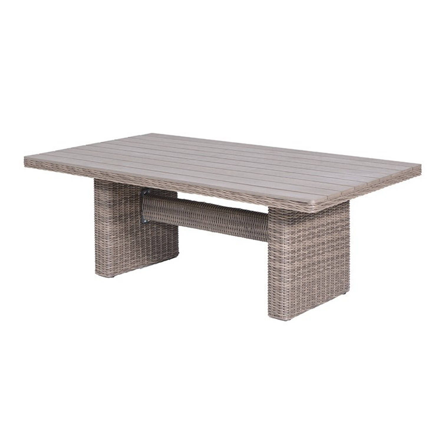 Garden Impressions Tennessee lounge dining tafel 180x100 cm wicker bruin