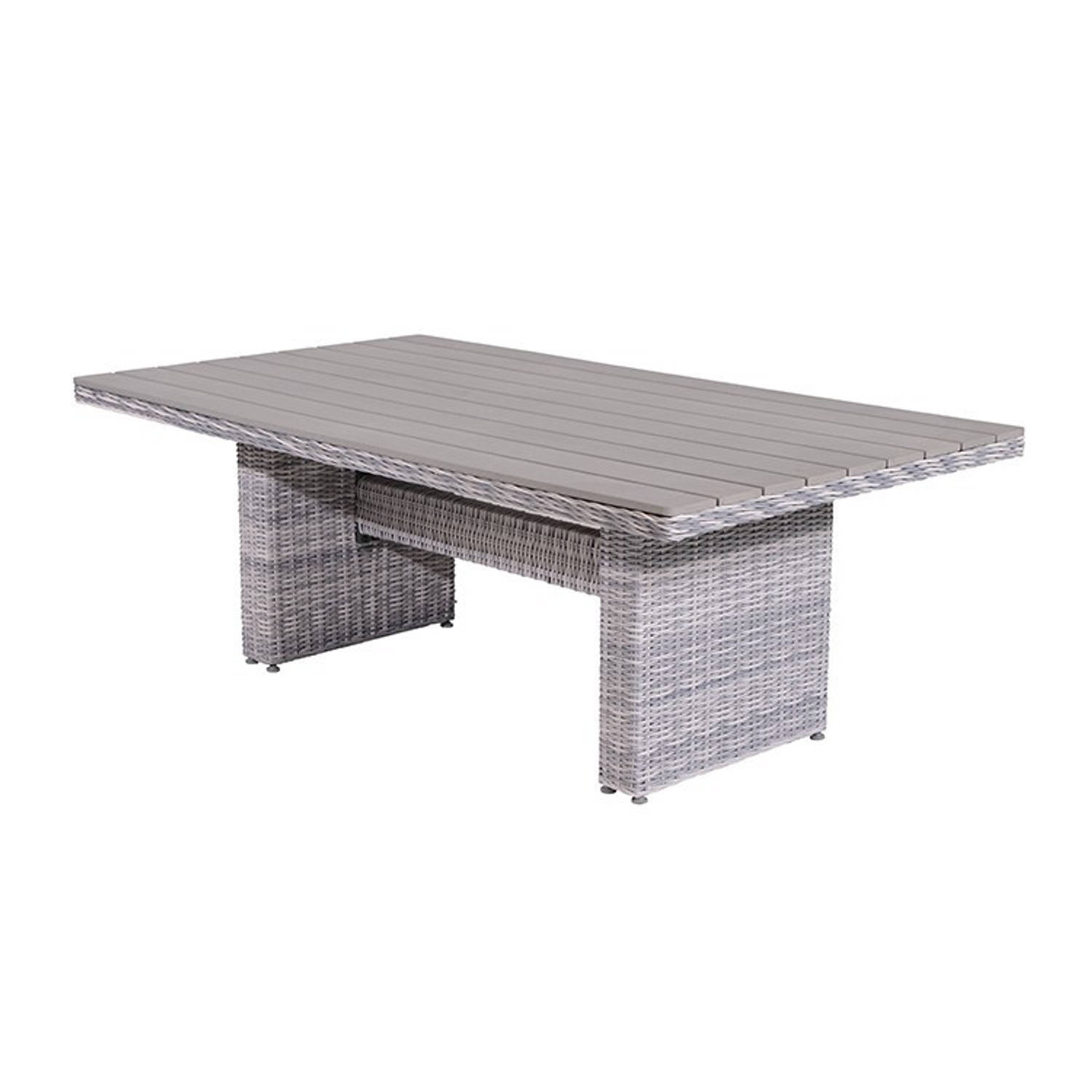 Garden Impressions Tennessee lounge dining tafel 180x100 cm wicker cloudy grey