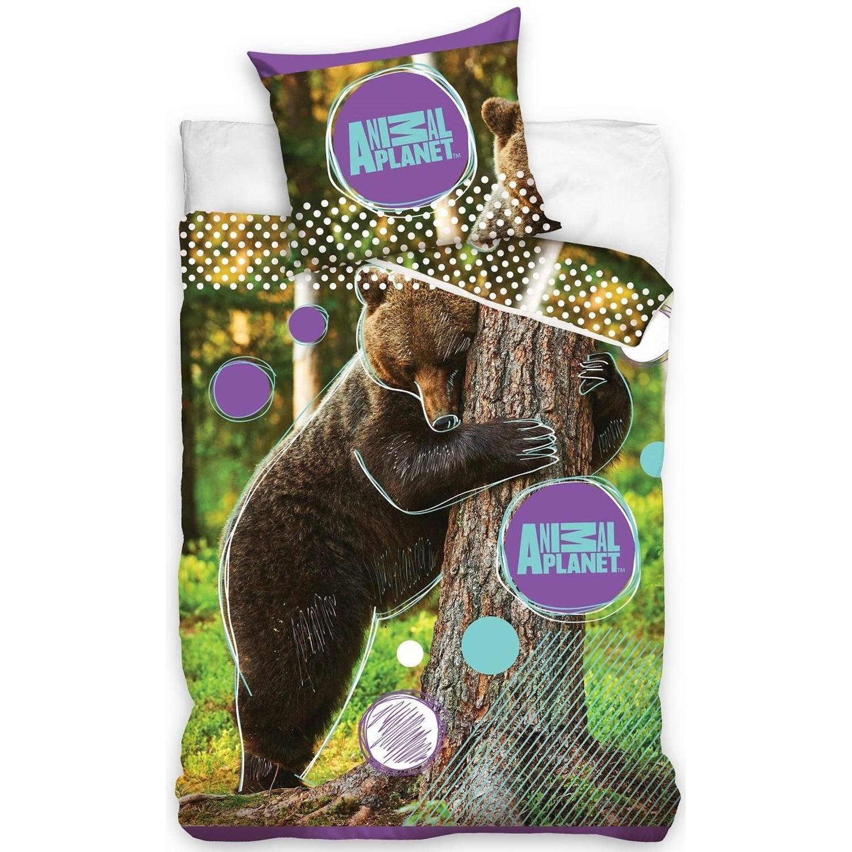 Afbeelding van Animal Planet dekbedovertek beer 140 x 200 cm paars