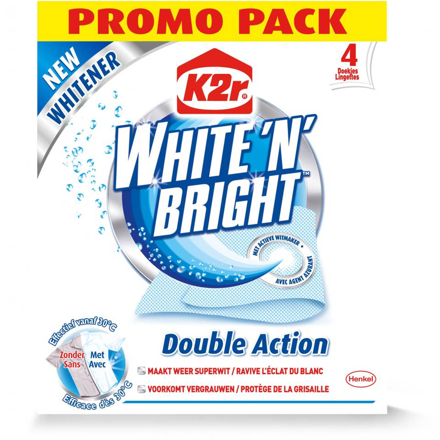 K2R White 'N' Bright - 4 doekjes