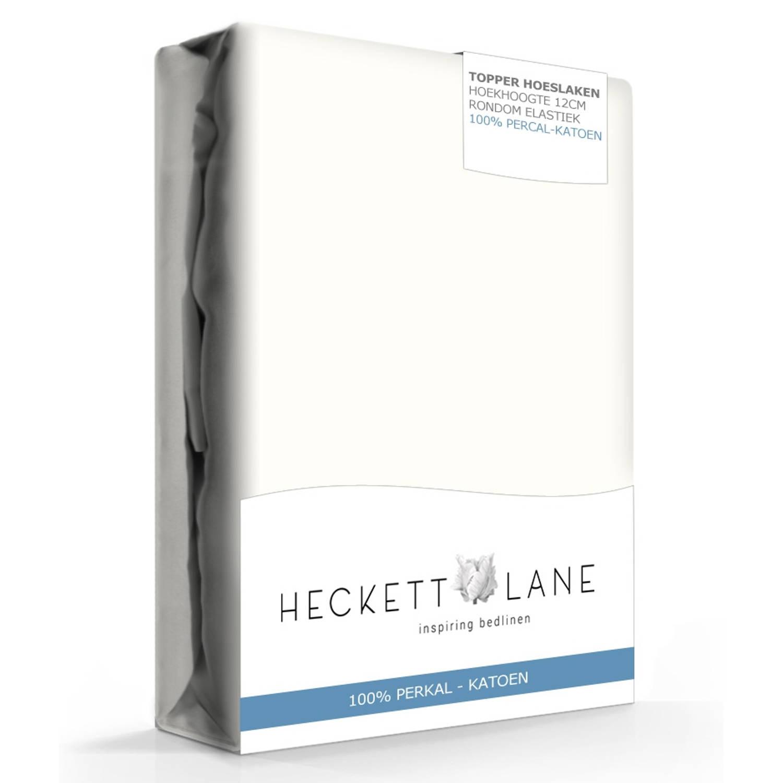 Heckett Lane Hoeslaken Topper Percal Off White-160 x 200 cm