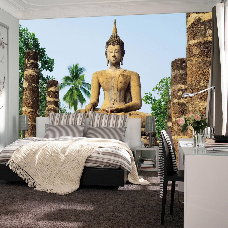 Fotobehang Tempel Sukhothai (366 X 254 Cm)