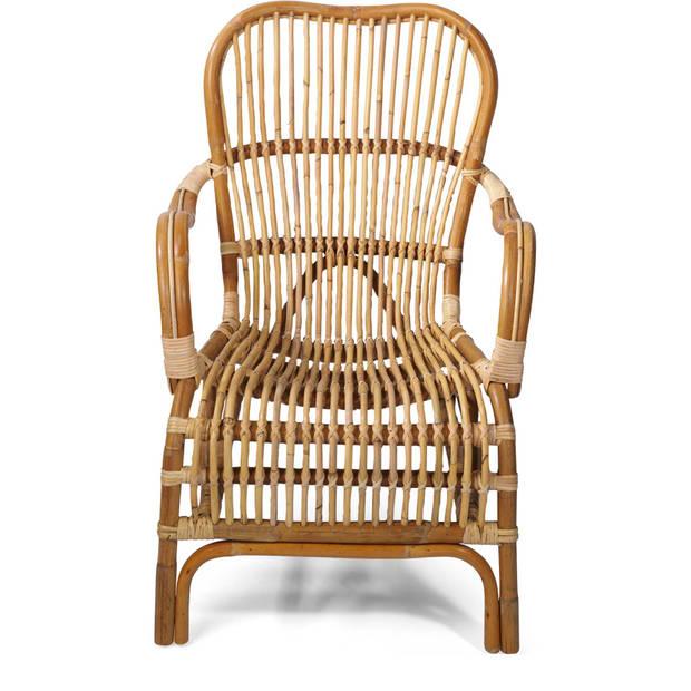Van der Leeden Bandung Rotan stoel - bruin