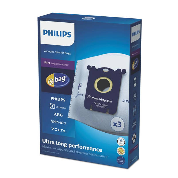 Philips s-bag Ultra Long Performance stofzuigerzakken - FC8027/01
