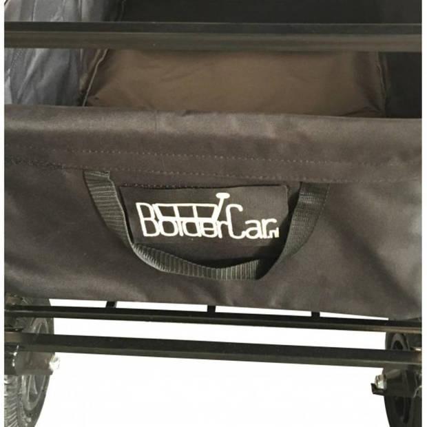 Bolderkar / Bolderwagen opvouwbaar zwart met luchtbanden, huif en opberghoes