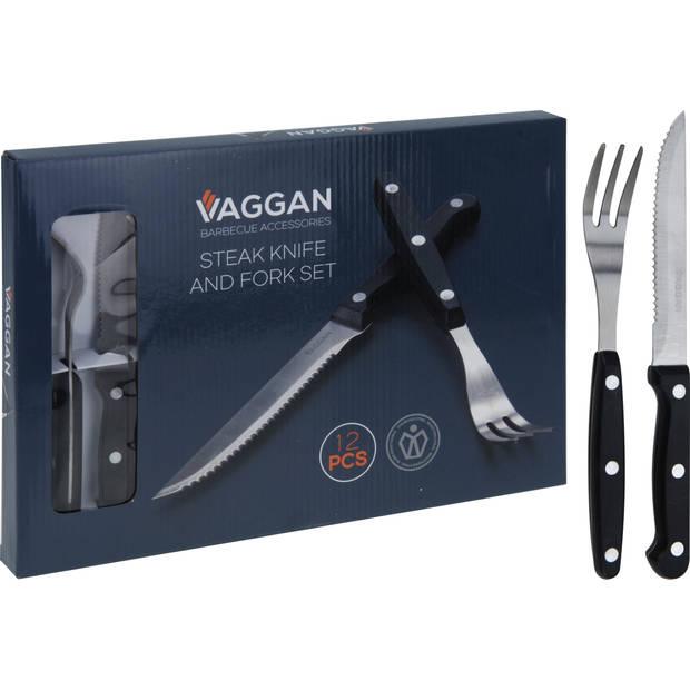 Vaggan Bestekset Steakmes en Vork 12-Delig