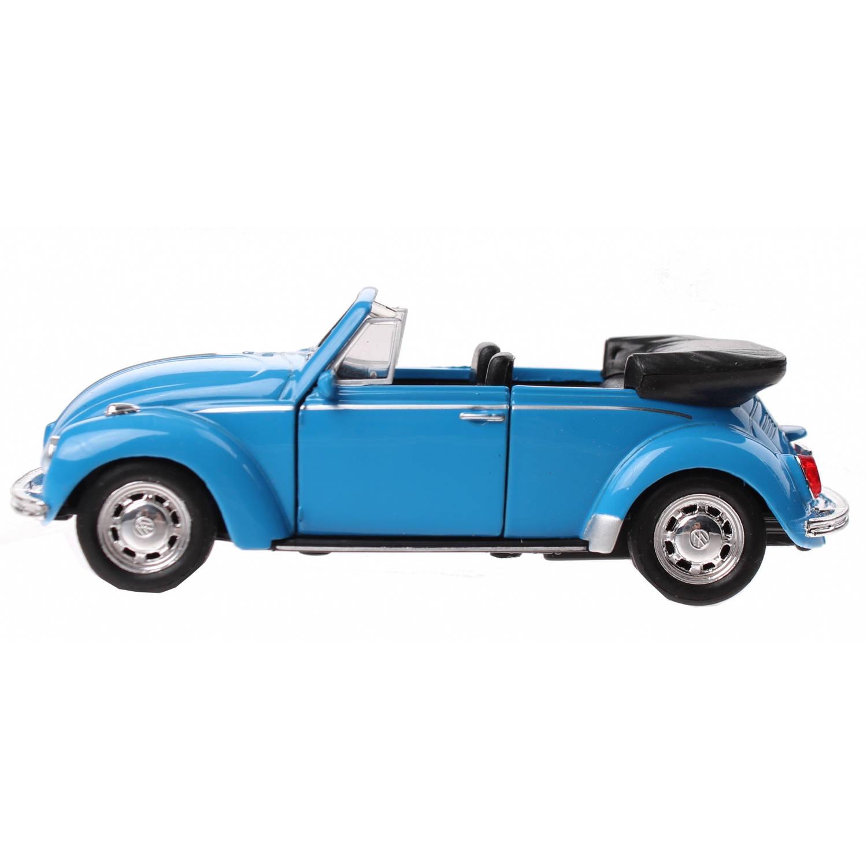 Toyrific VW Beetle cabrio blauw 11 cm