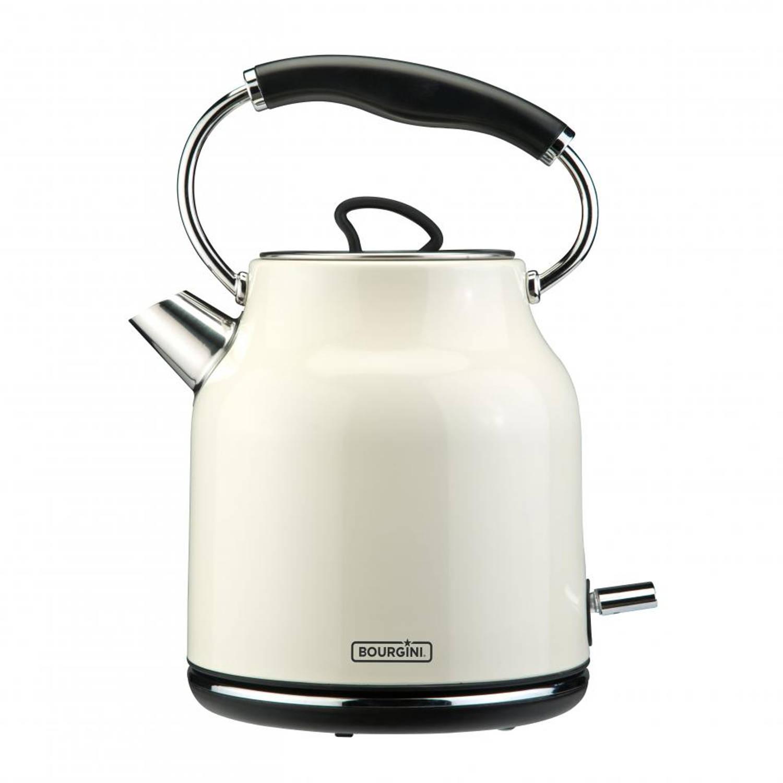 Korting Bourgini waterkoker Nostalgic Deluxe crème 1,7 liter