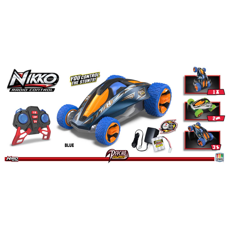 NIKKO op afstand bestuurbare auto Psycho Gyro - blauw