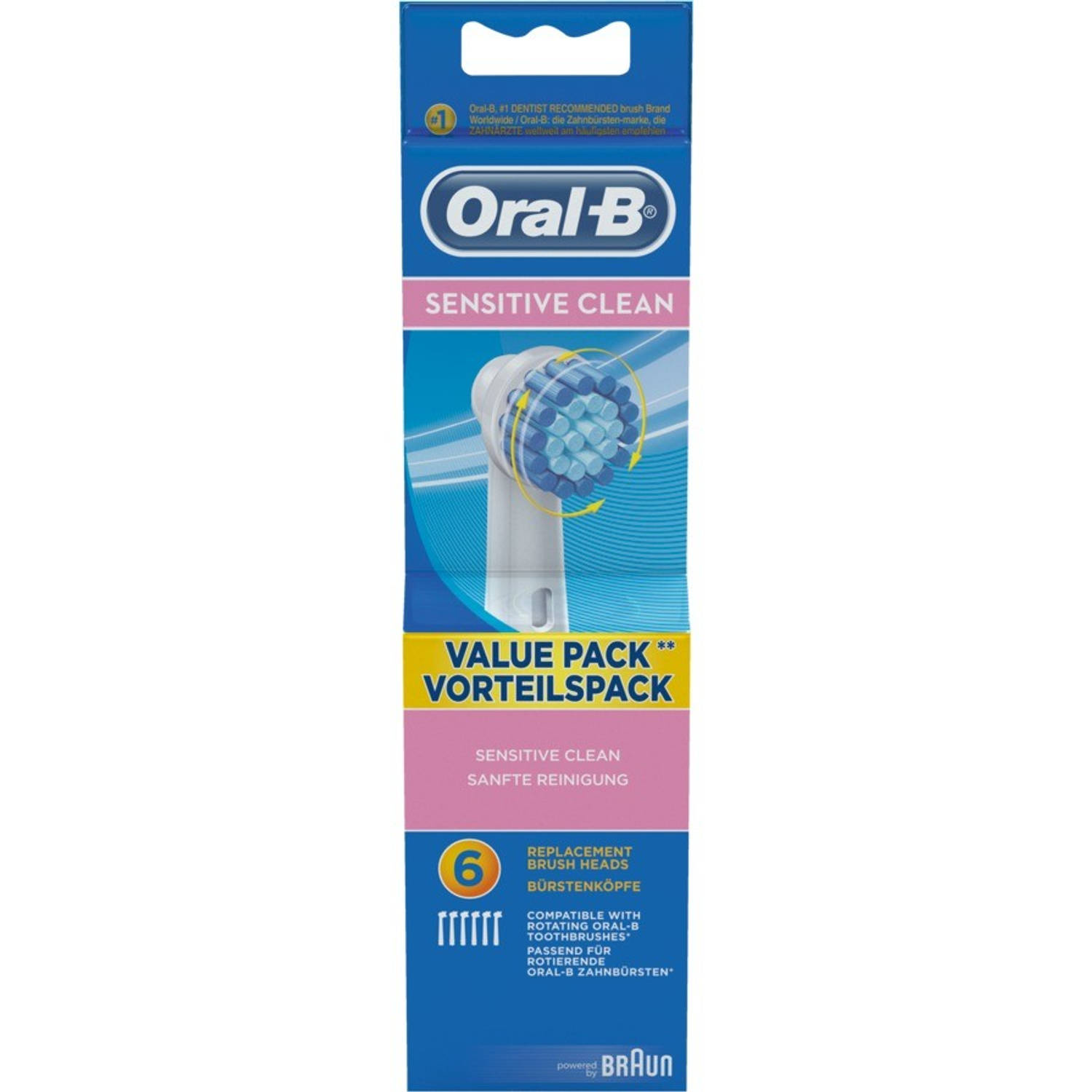 Oral B Opzetborstels Sensitive Clean 6stuks