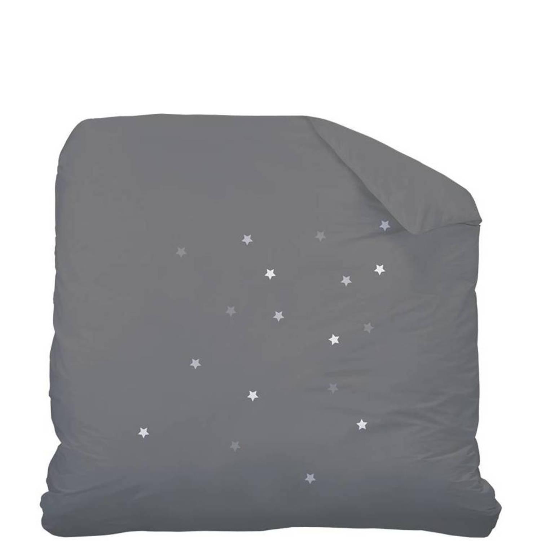 Matt & rose douce nuit - dekbedovertrek - eenpersoons - 140 x 200 cm - antraciet