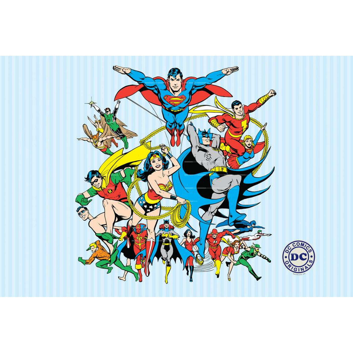 DC Comics Collage - Fotobehang - 232 x 158 cm - Multi