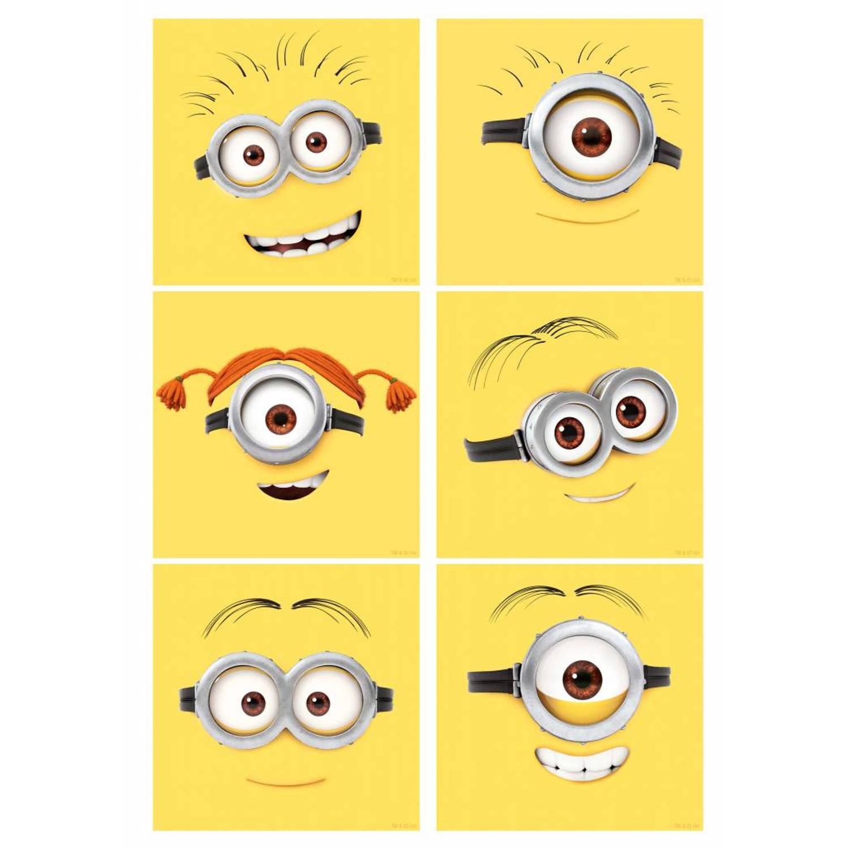 Muursticker Emoticons 12 Stuks