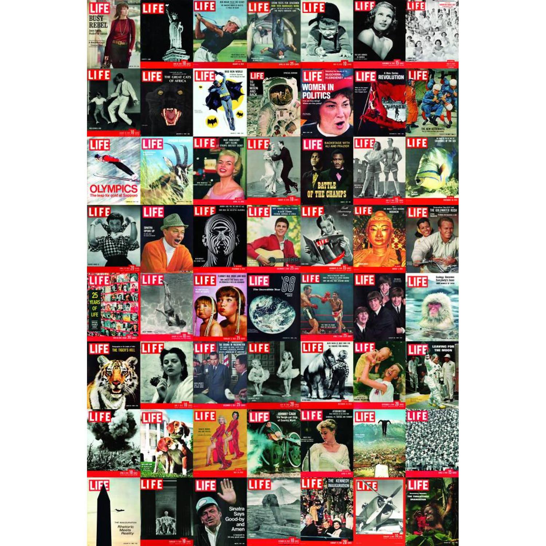 Magazine 56 covers - Fotobehang - 158 x 232 cm - Multi
