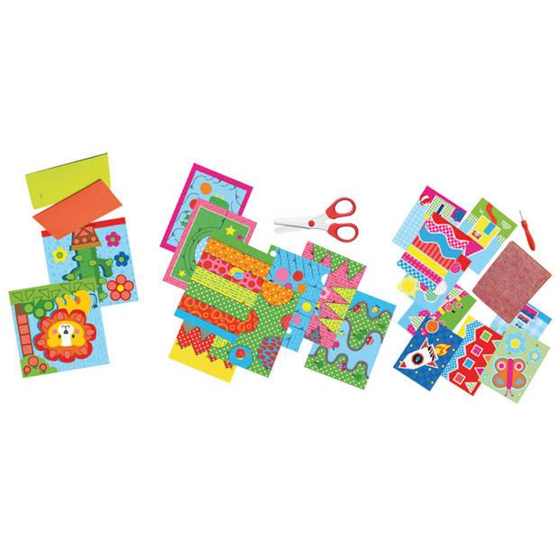 Ik leer knippen en mozaiken en prikken SES - Knutselset Papier SES Creative Hobby