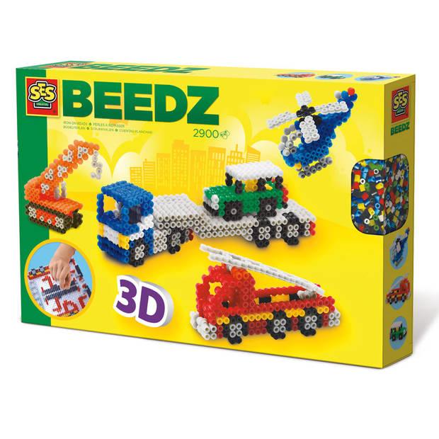 SES Beedz strijkkralen 3D-voertuigen