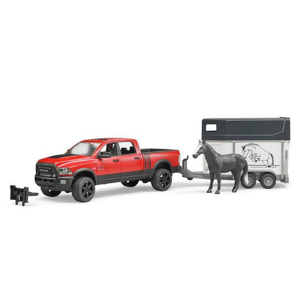 Bruder RAM 2500 Power wagon met paardentrailer 02501