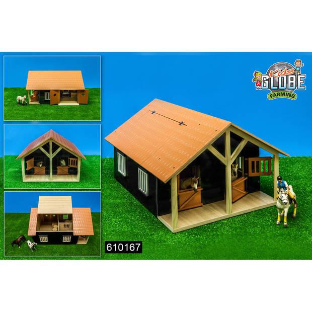 Kids Globe Farming paardenstal - hout