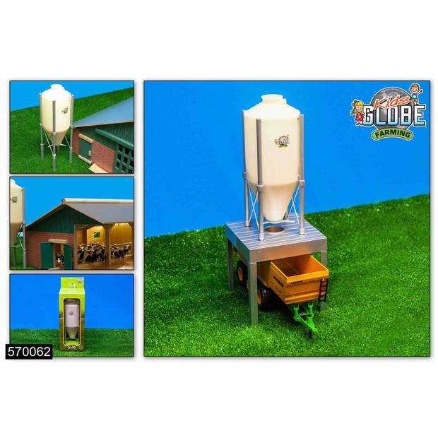 Kids Globe Farming mega voer silo - 38 cm hoog