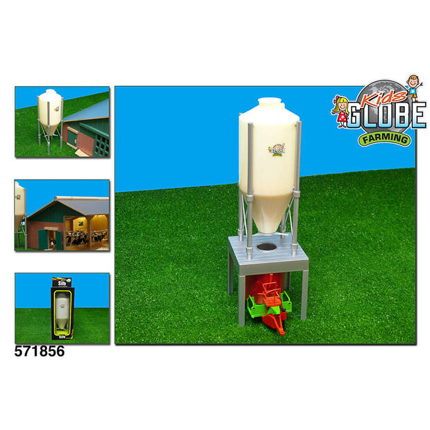 Kids Globe Farming voer silo - 30/36 cm hoog