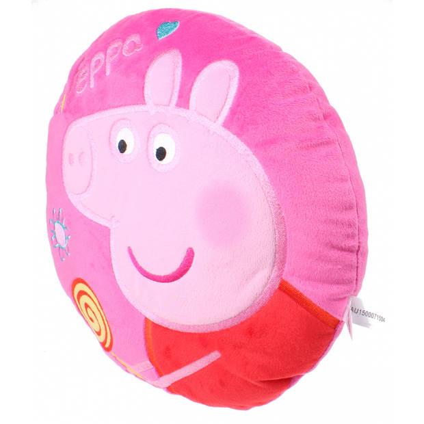 rond kussen pluche meisjes roze 30 cm