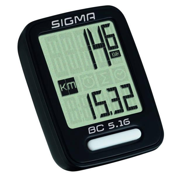Sigma fietscomputer BC 5.16 zwart