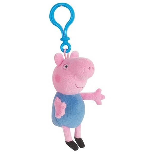 Nickelodeon sleutelhanger Peppa Pig pluche blauw 17 cm