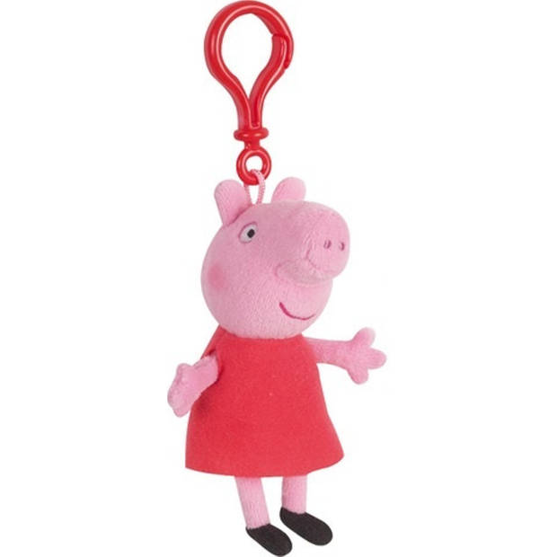 Nickelodeon sleutelhanger Peppa Pig pluche rood 17 cm