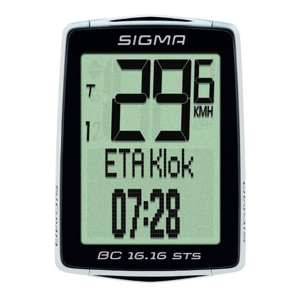 Sigma fietscomputer BC 16.16 STS CAD zwart