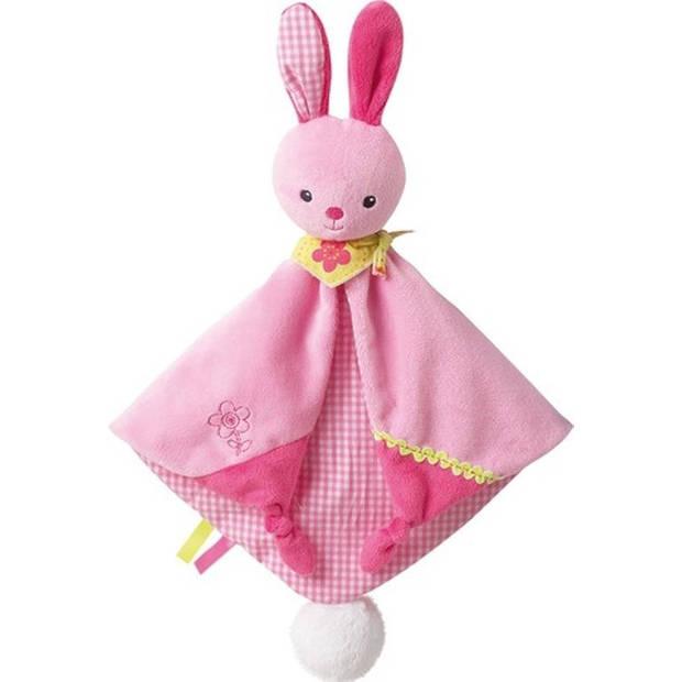 Jemini knuffeldoekje konijn roze 28 x 40 cm
