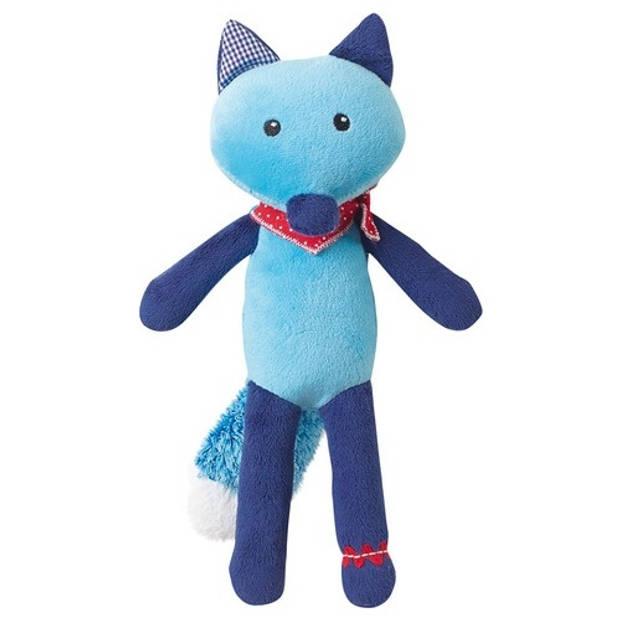Jemini Knuffel vos blauw 27 cm
