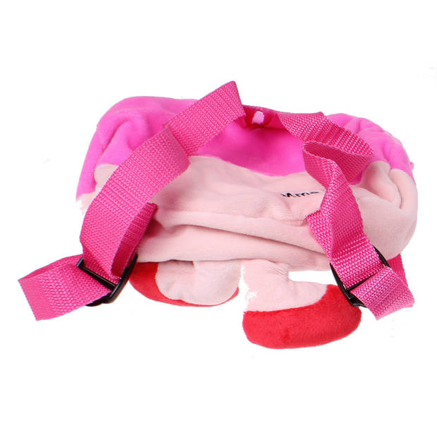 Jemini Monsieur Madame knuffelrugzakje Mme Calin roze 25 cm