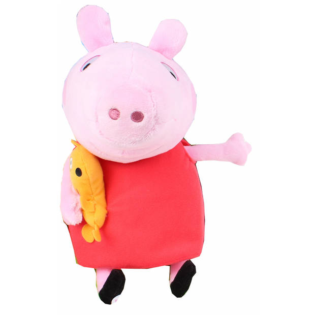 Nickelodeon knuffel Peppa Pig pluche rood 25 cm